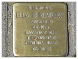 Stolperstein Ella Ehrenberg
