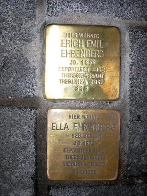Stolperstein Familie Ehrenberg
