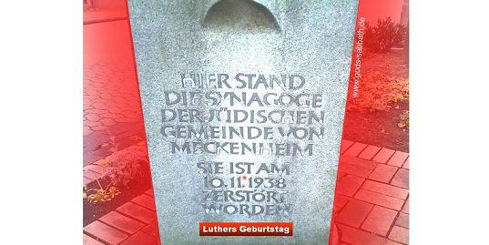 Luther: Erstlich, das man jre Synagoga mit feur anstecke, damit Gott sehe, das wir Christen seien