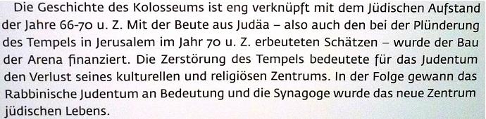 Kolosseum finanziert mit Gottes Tempelschatz