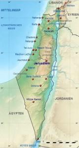 Israel darin Westjordanland und Gazastreifen - c Eric Gaba and NordNordWest